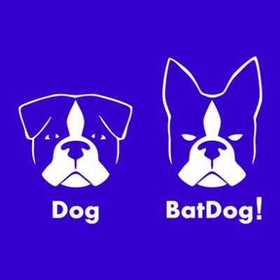 batdog blue square
