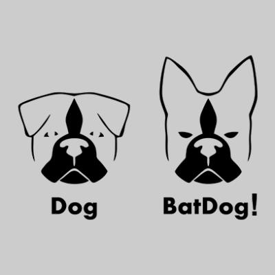 batdog grey square