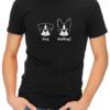 batdog mens tshirt black