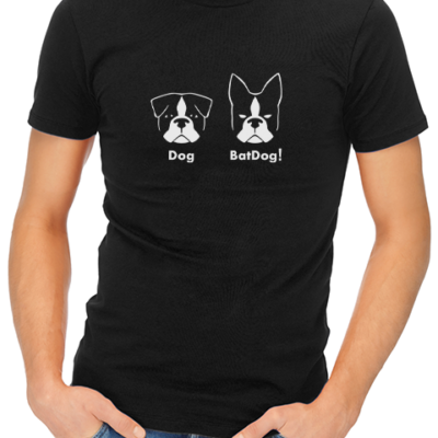 batdog mens tshirt black