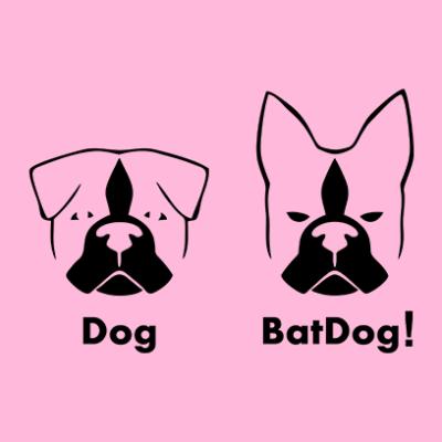batdog pink square