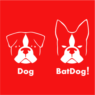 batdog red square