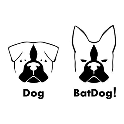 batdog white square