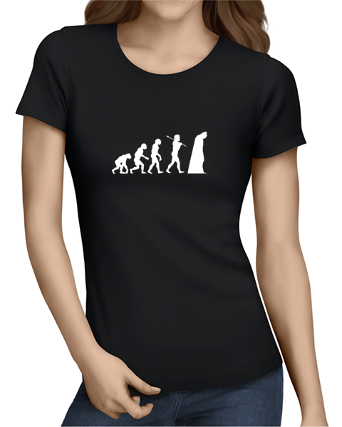 batman evolution ladies tshirt black