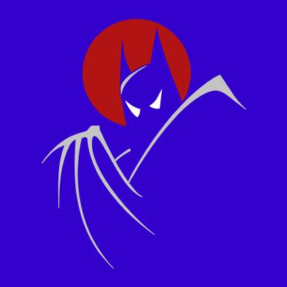 batman moonlight blue square