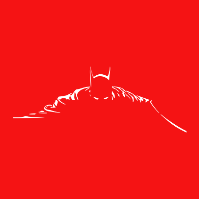batman silhouette red square