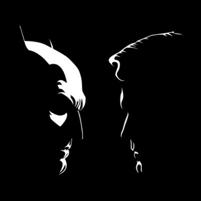 Batman Vs Superman Silhouette Juicebubble T Shirts