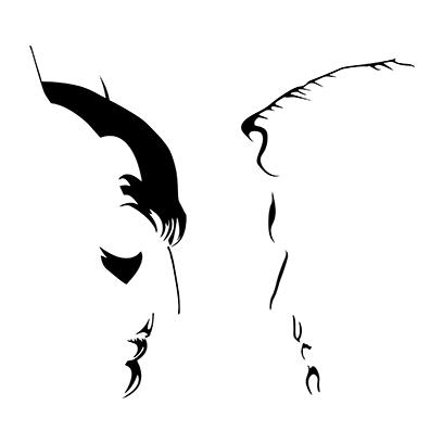 batman vs superman silhouette white square