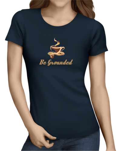 be grounded ladies tshirt navy