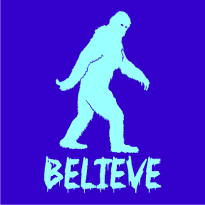 believe-in-bigfoot-halloween-t-shirt-royal-blue