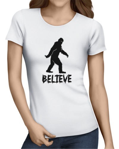 believe ladies tshirt white