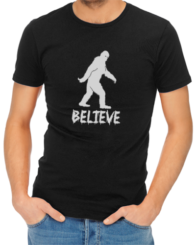 believe mens tshirt black