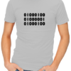 binary dad mens tshirt grey