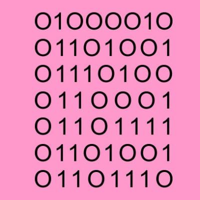 bitchin binary dad pink