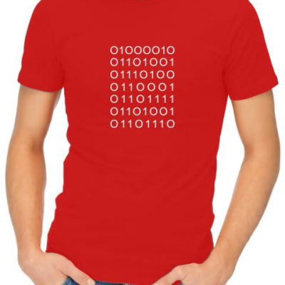 bitchin binary dad red t shirt
