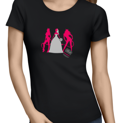 bride security ladies tshirt black