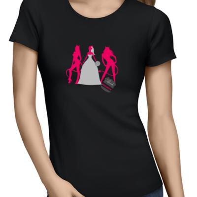 bride security ladies tshirt black