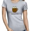 catpuccino ladies tshirt grey
