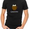 catpuccino mens tshirt black