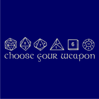 0a27ff81 Choose Your Weapon - JuiceBubble T-Shirts