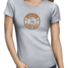 coffee before talkie icon ladies tshirt grey