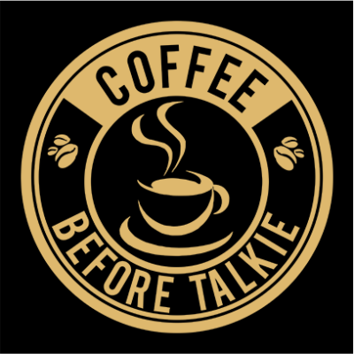 coffee before talkie logo black square