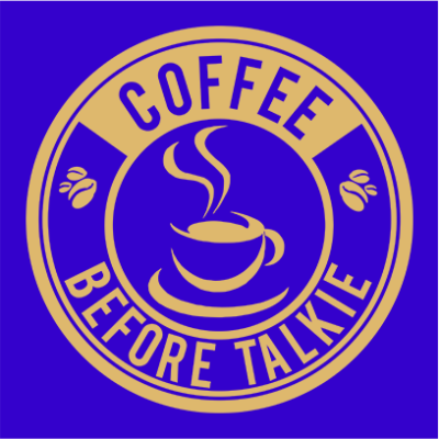 coffee before talkie logo blue square