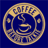 coffee before talkie logo navy square