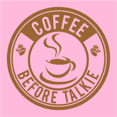 coffee before talkie logo pink square