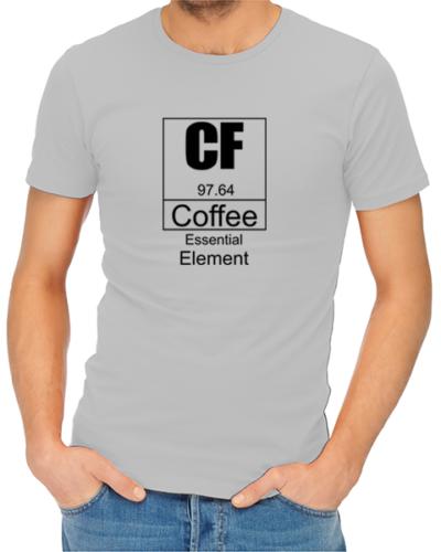 coffee essential element mens tshirt grey