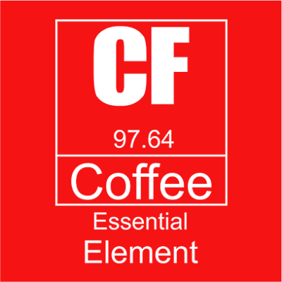 coffee essential element red square