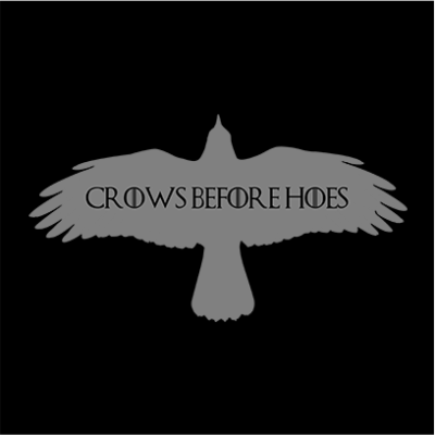 crows before hoes black square
