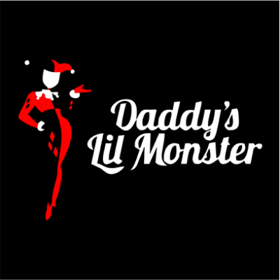 daddys little monster black square
