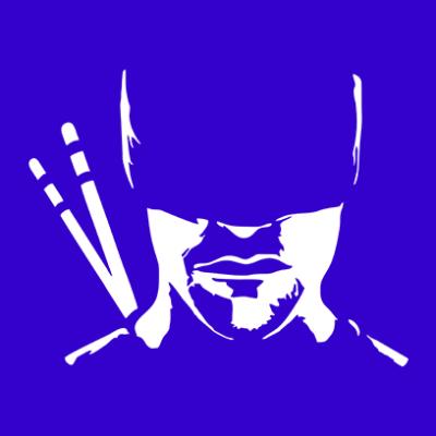 daredevil silhouette blue square