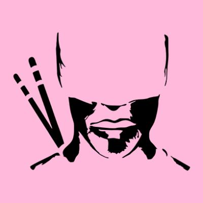 daredevil silhouette pink square