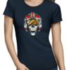 dead rebel ladies tshirt navy