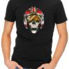dead rebel mens tshirt black