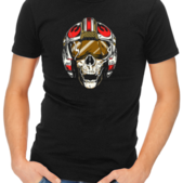 dead rebel mens tshirt black