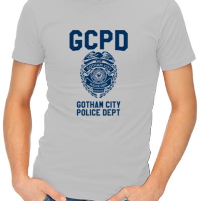gcpd mens tshirt grey