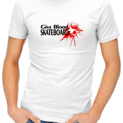 give-blood-skateboard-mens-tshirt