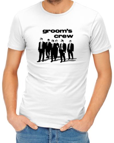 grooms crew mens tshirt white