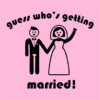 guess whos getting married pink square