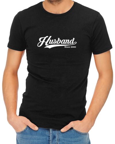 husband since mens tshirt black