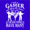 i am a gamer blue square