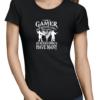 i am a gamer ladies tshirt black