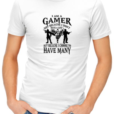 i am a gamer mens tshirt white