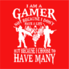 i am a gamer red square