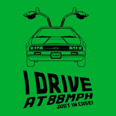 i-drive-at-88mph-nerdy-t-shirt-kelly-green