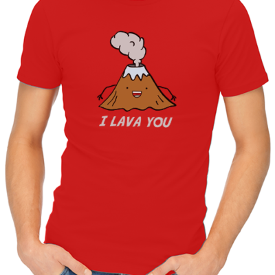 i lava you mens tshirt red