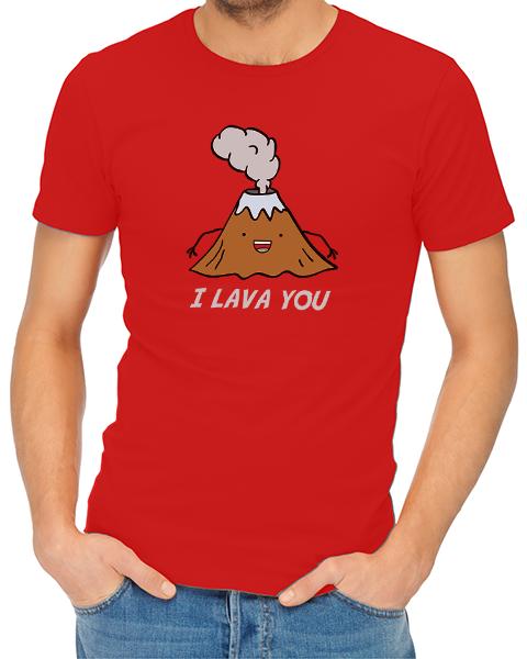 i lava you mens tshirt red